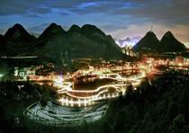 明湖濕地公園夜景