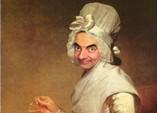 如果油畫人物都是憨豆先生