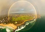 澳大利亞天空驚現罕見全圓形彩虹