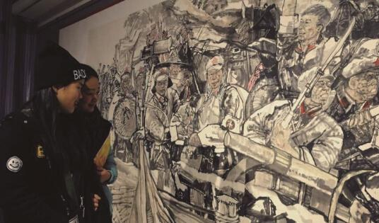 巨幅國畫《赤水奇兵》奪人眼球