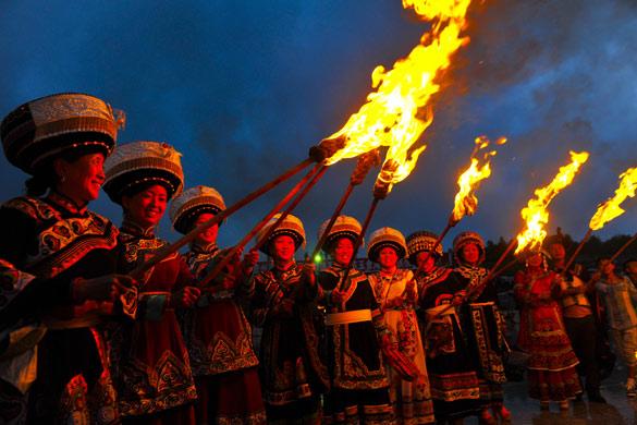 水城縣玉舍海坪國際彝族火把節7月27日舉行