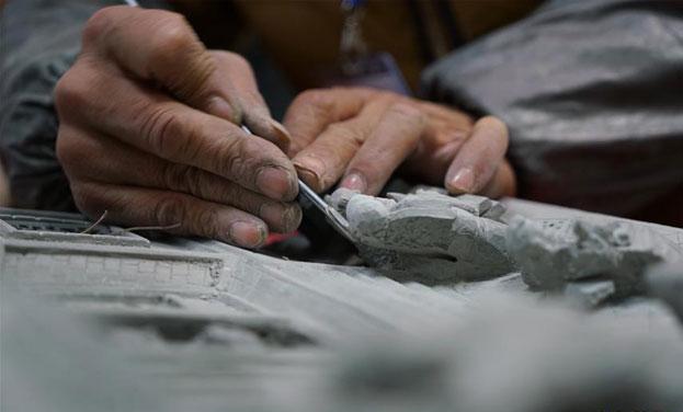 """首届""""全国砖雕艺术创作与设计大赛""""在苏州开幕"""