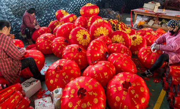 喜慶的紅燈籠銷全球