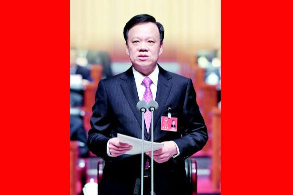 貴州省十二屆人大五次會議開幕 陳敏爾主持