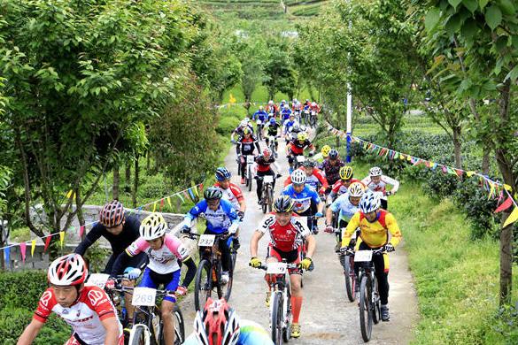 2017遵義·中國茶海山地自行車賽(余慶站)開賽