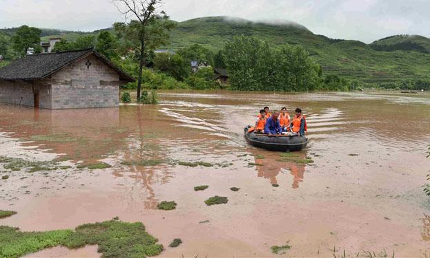 貴州松桃遭洪水襲擊