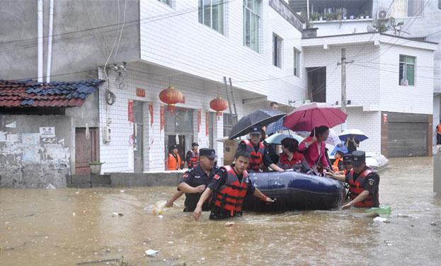 貴州松桃暴雨引發內澇