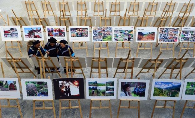 劍河:村民自辦攝影展 展示侗寨新生活