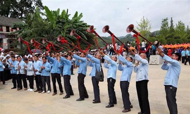 貴州貞豐:百對新人體驗布依族傳統婚禮