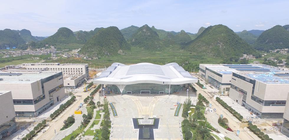 在建的中國(安順)石材城航拍