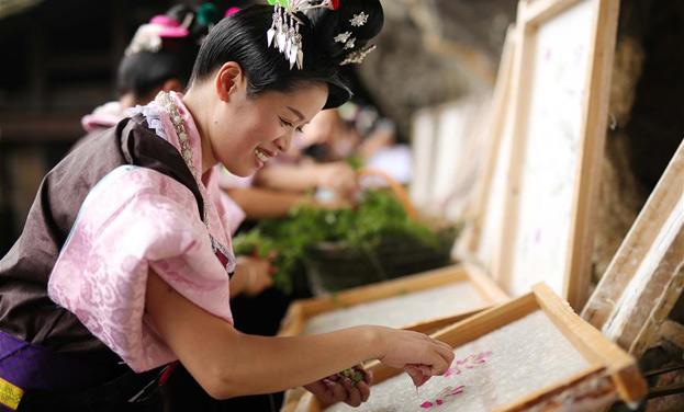 貴州丹寨:古紙之鄉賽技藝