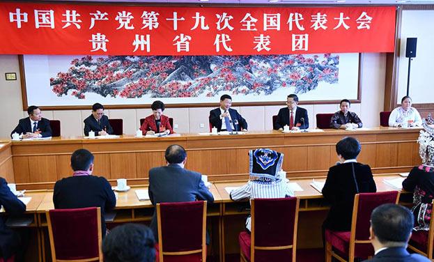 習近平參加黨的十九大貴州省代表團討論