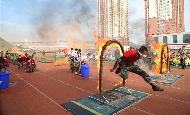 貴州省第二屆大學生消防逃生技能大比武舉行