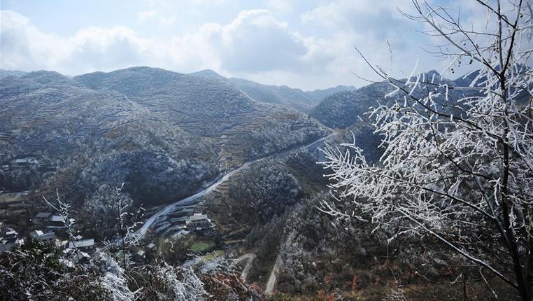 黔北山鄉冬景美