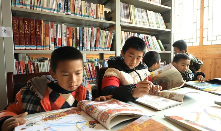 貴州丹寨:農家書屋度寒假