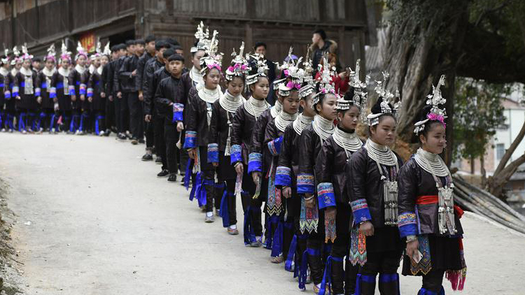 貴州從江:千人哆耶迎春來