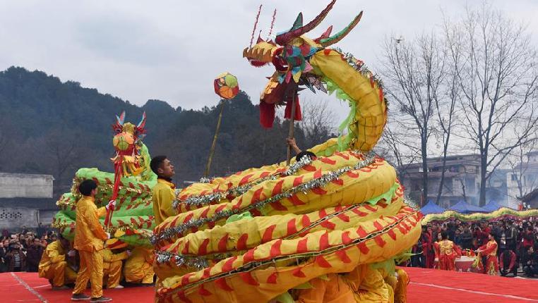貴州松桃:滾龍鬧新春