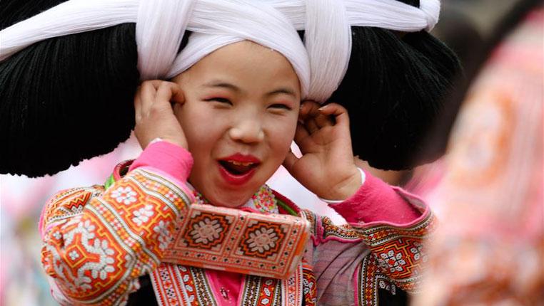 貴州六枝:苗胞歡度跳花節