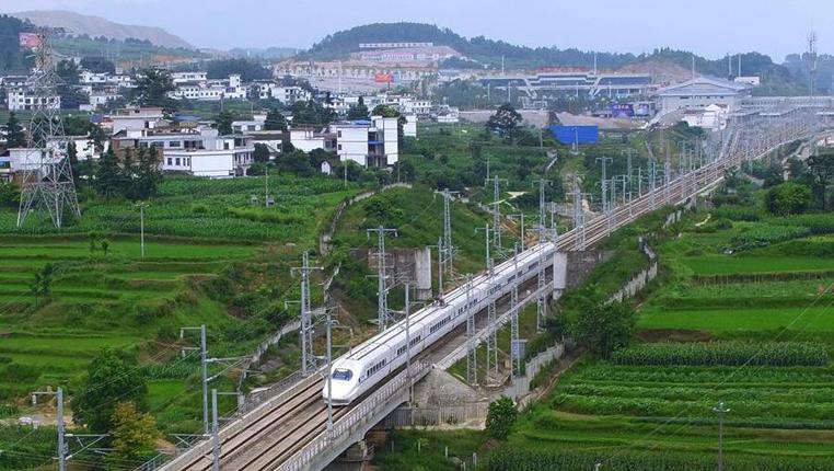 新華網航拍:貴州高鐵運營裏程超1200公裏