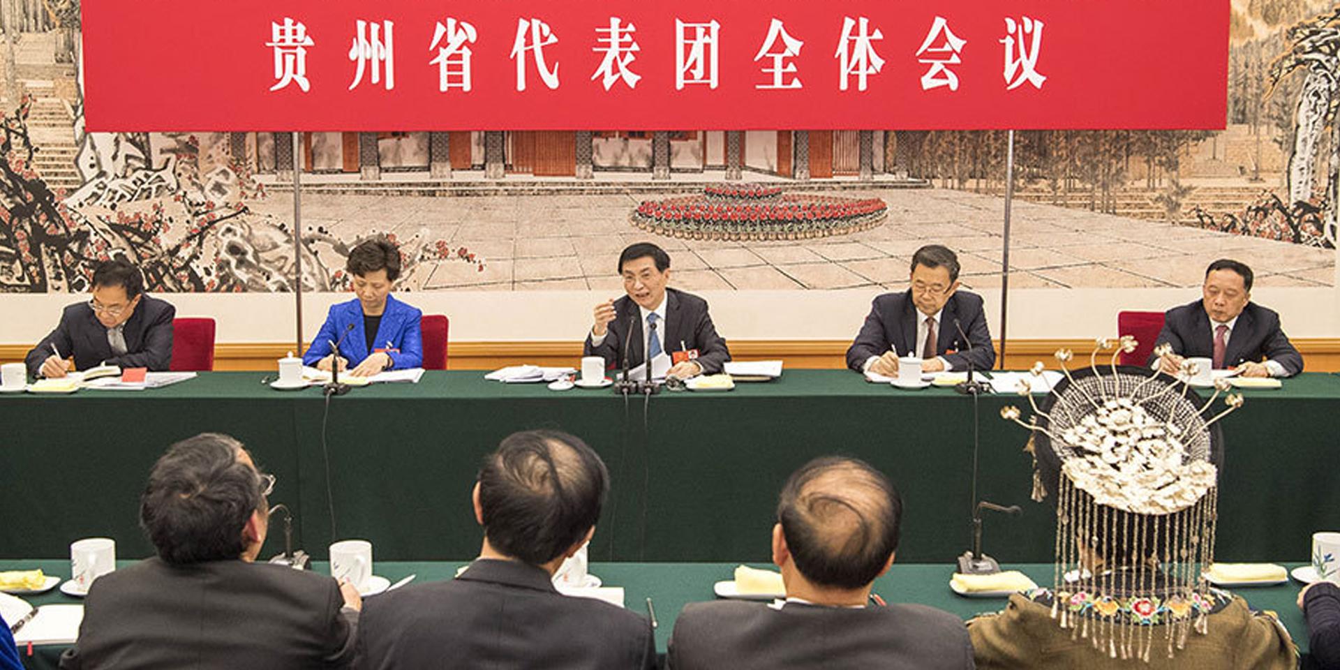 王滬寧參加貴州代表團審議