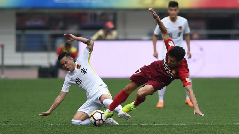 足球——中超:貴州恒豐不敵河北華夏幸福