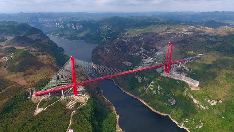 飞阅鸭池河大桥