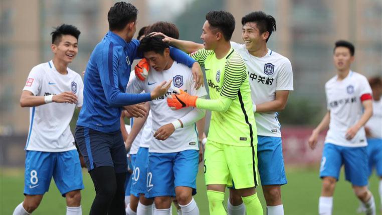 足球——全國青少年超級聯賽:貴州恒豐不敵天津泰達