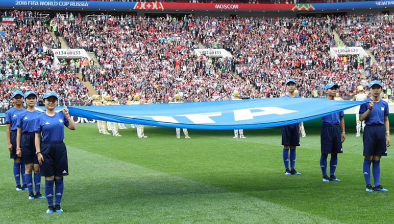 足球——中國丹寨少年亮相世界杯揭幕戰