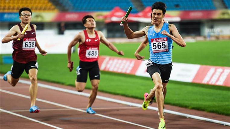 2018全國田徑冠軍賽:男子4×400米賽況