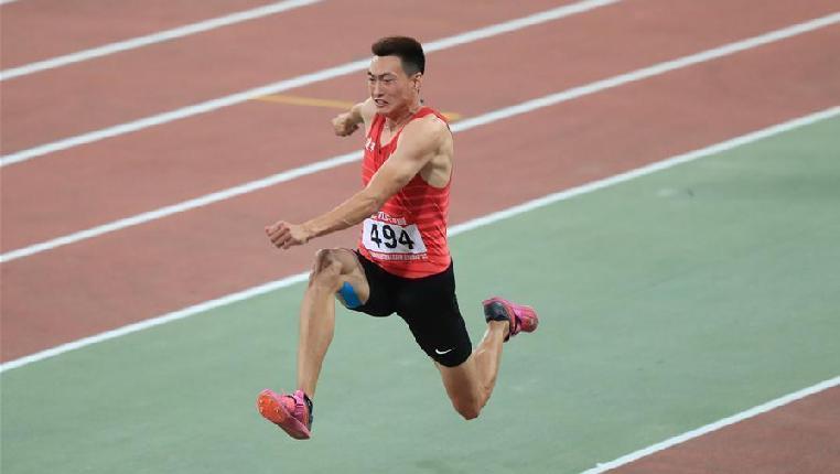 2018全國田徑冠軍賽:男子三級跳遠賽況