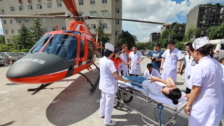 貴州首架專業醫療構型救援直升機即將投入使用