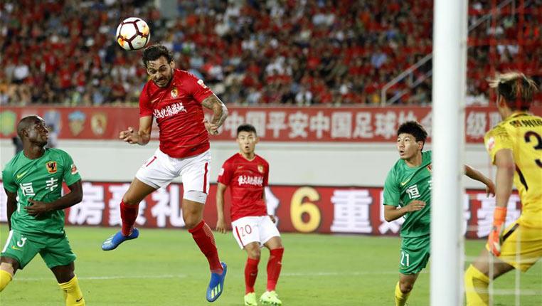 足球——中超:广州恒大淘宝胜贵州恒丰