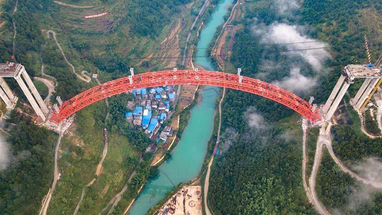 贵州大小井特大桥建设进入冲刺阶段
