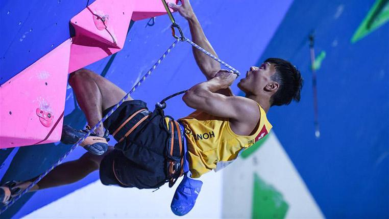 攀岩——全國錦標賽:男子難度賽賽況