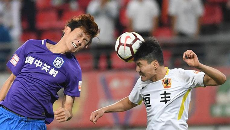 足球——中超:貴州恒豐勝天津泰達