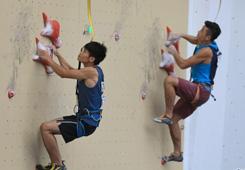 2018中國攀岩聯賽(貴州紫雲)男子速度決賽賽況