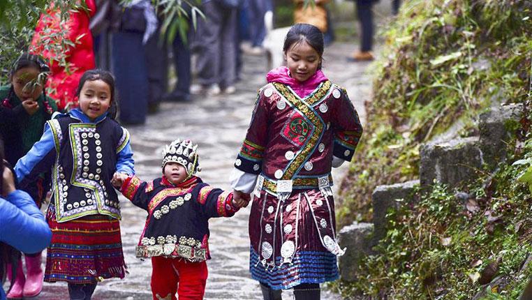 貴州臺江:苗胞歡度鼓藏節