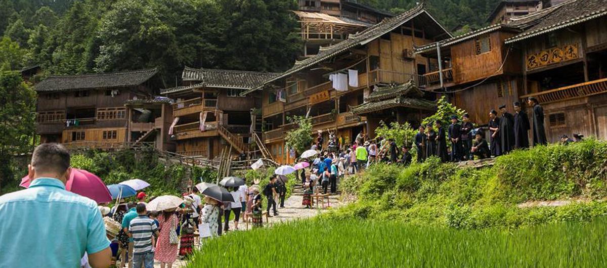貴州雷山:苗寨迎來旅遊旺季