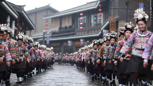 """貴州丹寨:苗族同胞歡度""""祭尤節"""""""