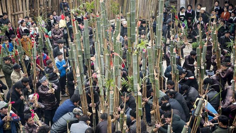 貴州從江:吹蘆笙慶苗年
