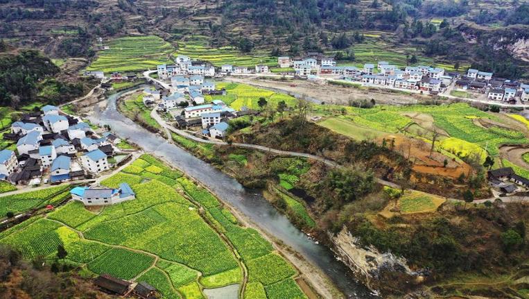 俯瞰貴州鄉村美景