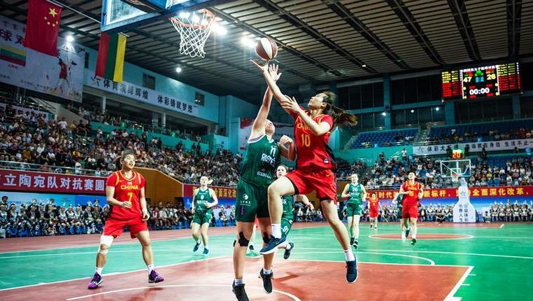 國奧女子籃球對抗賽:中國勝立陶宛
