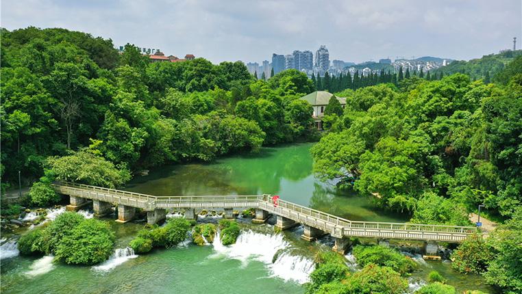 """鳥瞰""""城市綠肺""""——貴陽花溪公園"""