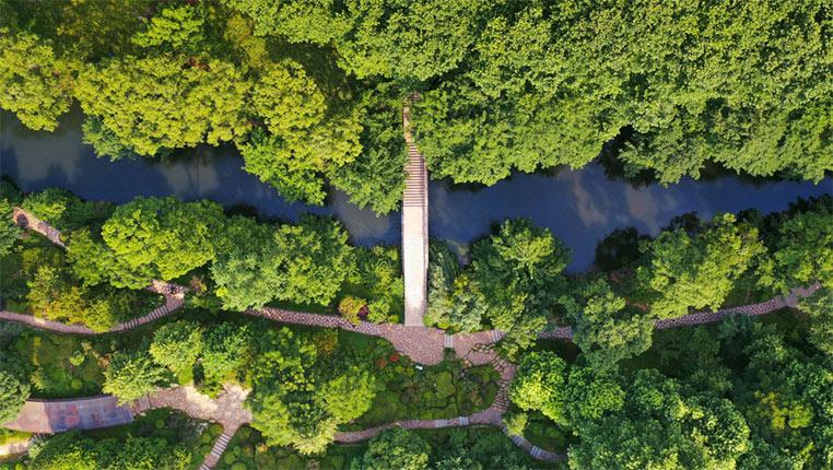 """鳥瞰""""城市綠肺""""——貴陽小車河濕地公園"""