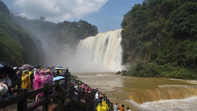 貴州黃果樹大瀑布進入豐水期
