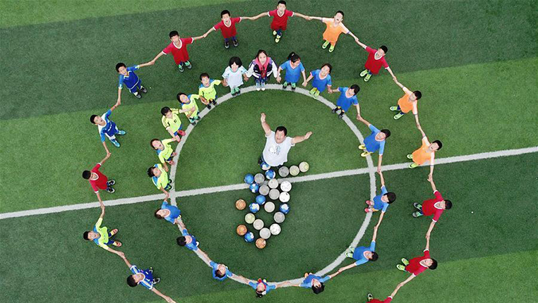 """全民健身·樂享生活——帶著山區孩子的""""足球夢""""去歐洲"""