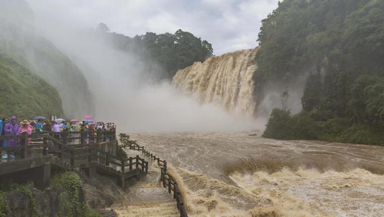 黃果樹瀑布流量創今年入汛新高