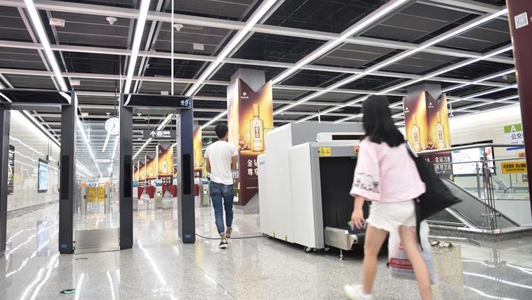 貴陽北站出站換乘地鐵免除二次安檢