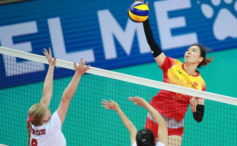 排球——女排小組賽:中國隊勝美國隊