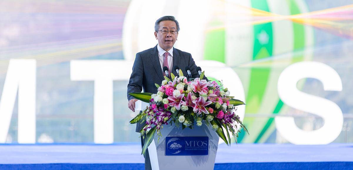 貴州省人民政府副省長盧雍政作推介